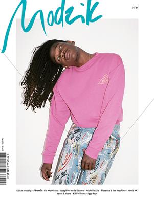 Shamir on the cover of Modzik magazine Photography: Alex Brunet Editor-in-Chief, Creative Direction, magazine redesign: Nora Baldenweg