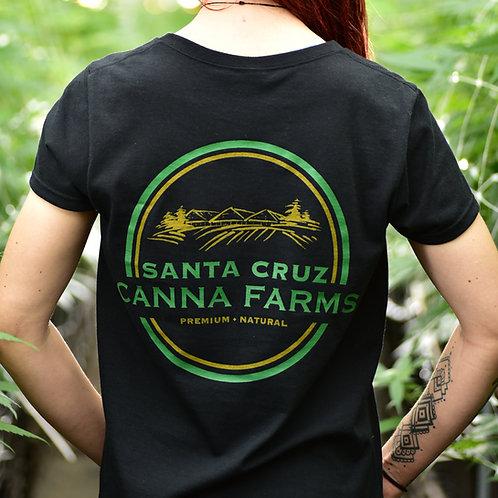 Santa Cruz Canna Farms Women's Black T-shirt