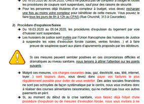 Avis - Compteur budget - Expulsion