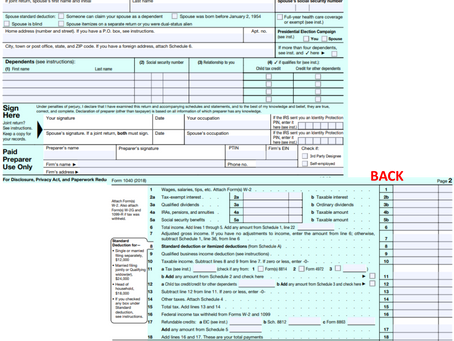 New Look For 1040 Tax Form