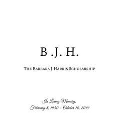 The Barbara J. Harris Scholarship