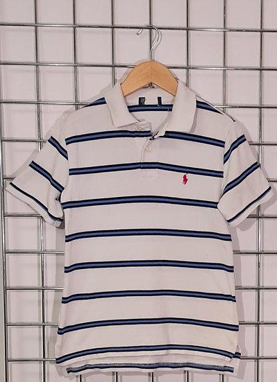 Polo Ralph Lauren White and Blue Stripped Polo Shirt