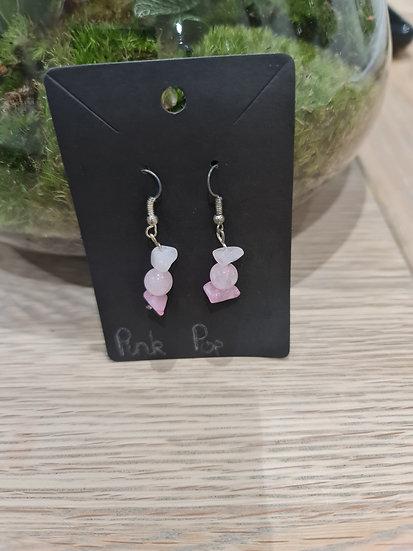 Pink Pop Dangly Earrings
