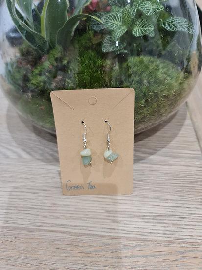 Green Tea Dangly Earrings