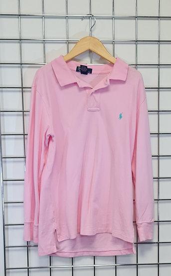Polo Ralph Lauren Pink Long-Sleeve Polo Shirt