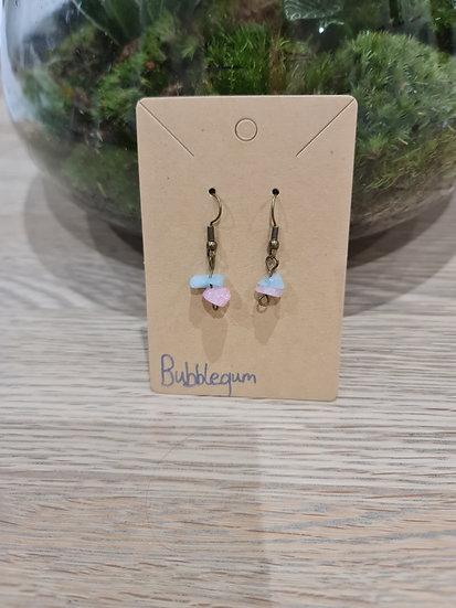 Bubblegum Dangly Earrings