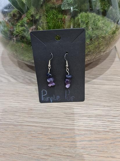 Purple Pop Dangly Earrings