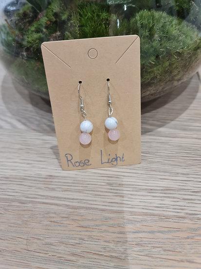 Rose Light Dangly Earrings