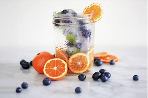 Citrus and Blueberry Infused Detox water | Skintelligence