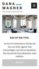Design website templates – Innenarchitekt-Portfolio
