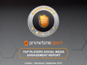 Here is the first Player Social Media Engagement Report by Prime Time Sport