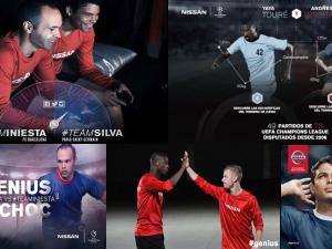 How Iniesta, Thiago Silva and Yaya do the job for Nissan