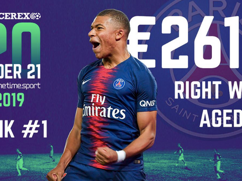 Mbappé world's most valuable U21 player for second year in the Soccerex 20 U21 by Prime Time Sport