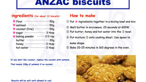 Shal's Cooking 【ANZAC biscuits】