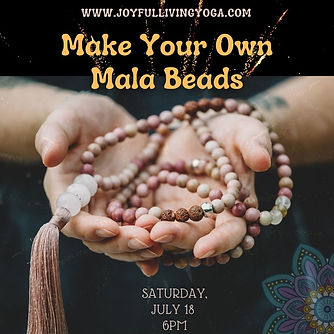 Make your own Mala beads in New Jersey.j