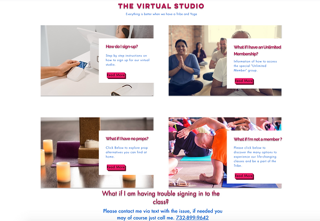 Virtual Yoga Studio