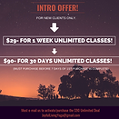Copy of INTRO OFFER, yoga studio, yoga n