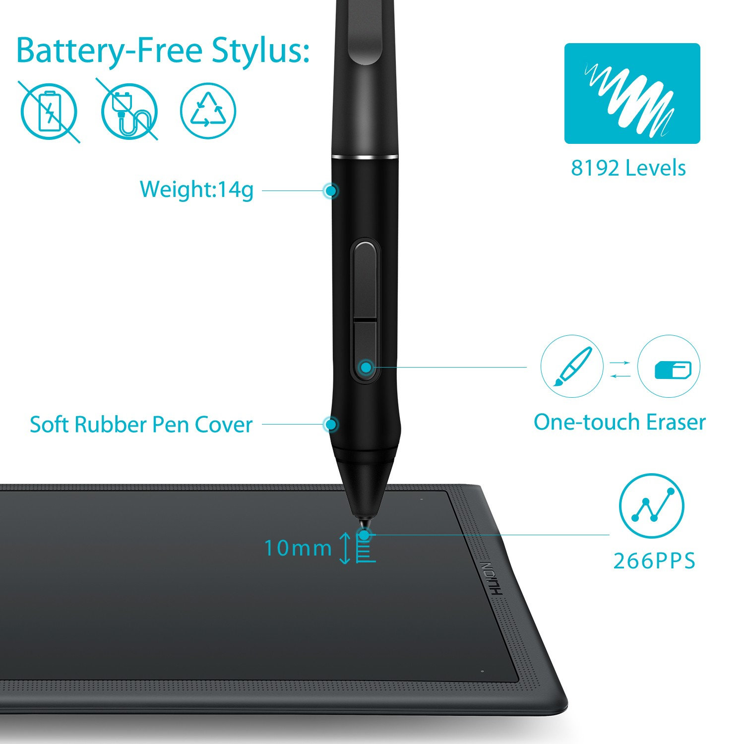 Huion Inspiroy Q11K V2 Wireless Graphic Drawing Tablet | Huion Australia