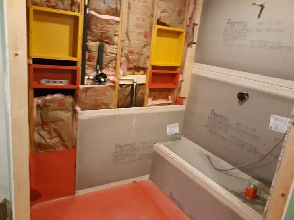 Bathtub Area during Construction