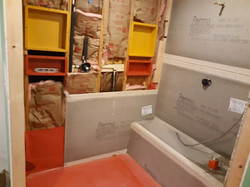 Bathtub Area during Construction