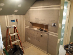 Master Bath during construction.