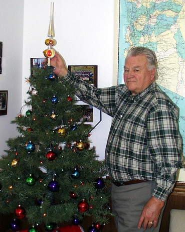 Jack topping Christmas Tree