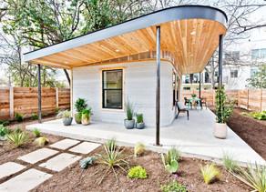 Casas construídas em 3D para desabrigados