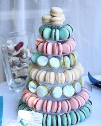 Pastel macaron tower