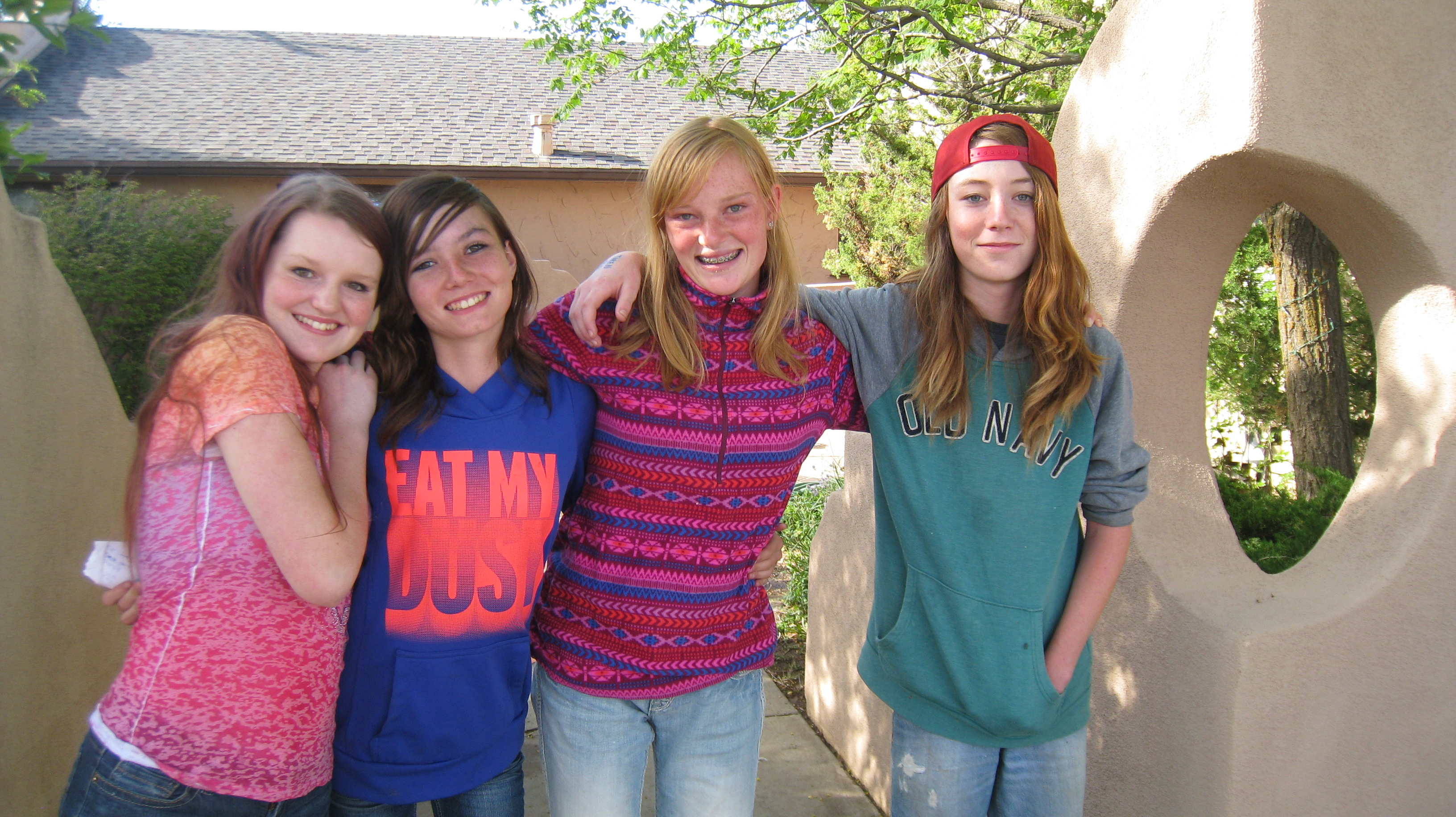 Four youth group members