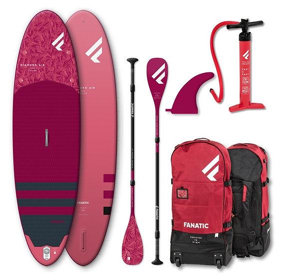 Fanatic SUP Diamond Air 2020 pack mit Paddle 35% Carbon Aufblasbar
