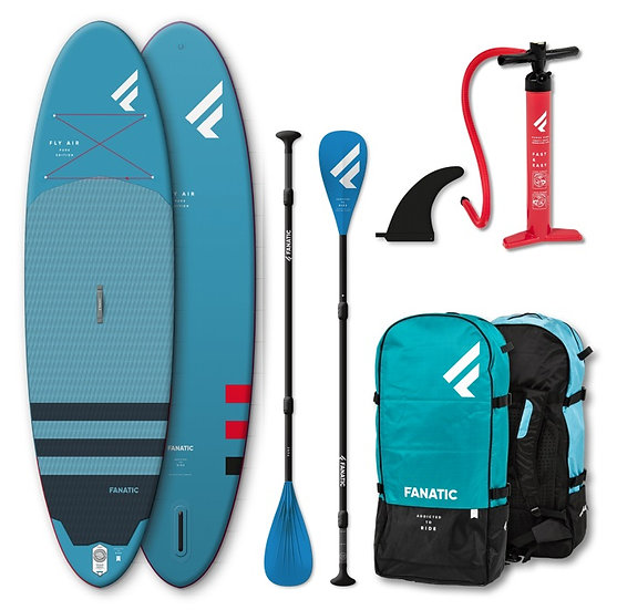 Fanatic SUP Fly Air 2021 Pack mit Paddle - Aufblasbar