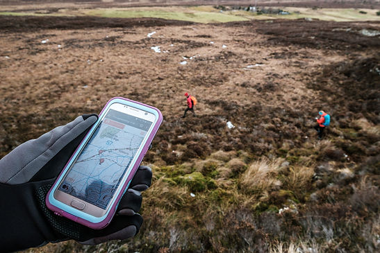 GPS tracking in use on the hill