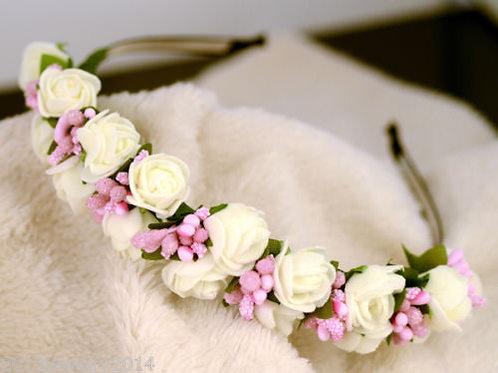 Haarreif Kleine Blüten fein