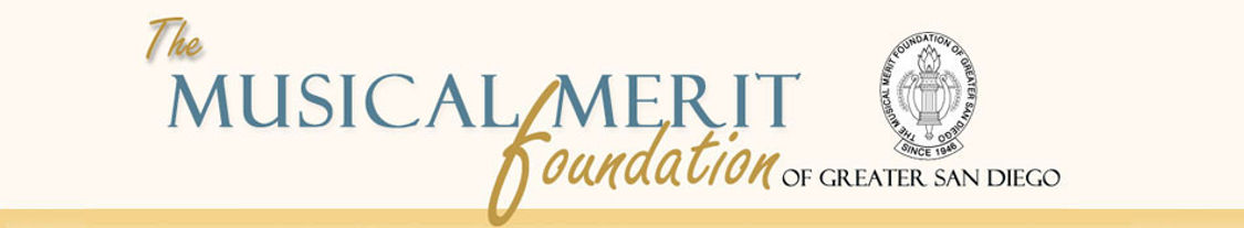 Musical Merit Foundation San Diego Logo Scholarships for talented musicians
