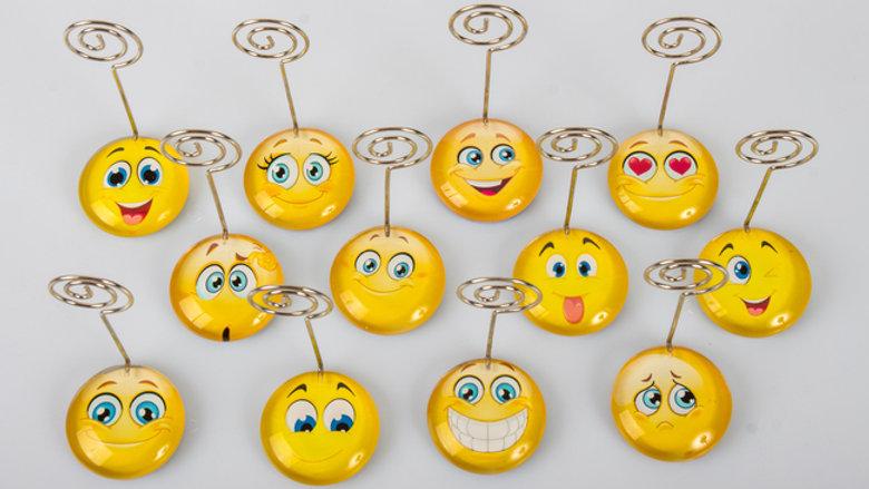 MEMOCLIP SMILE, SIMPATICISSIMA PINZETTA CON LO SMILE E3171