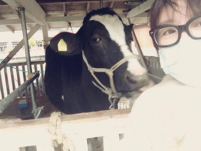 牛とパチリ!