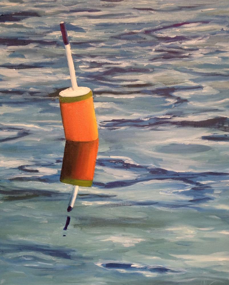 orange lobster buoy