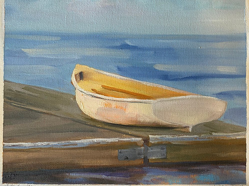 white dinghy-sold