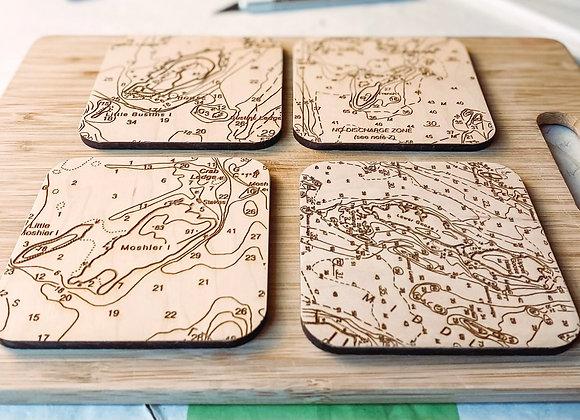 Coastal Chart Coasters