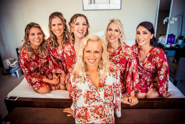 Clare & her bridal party.