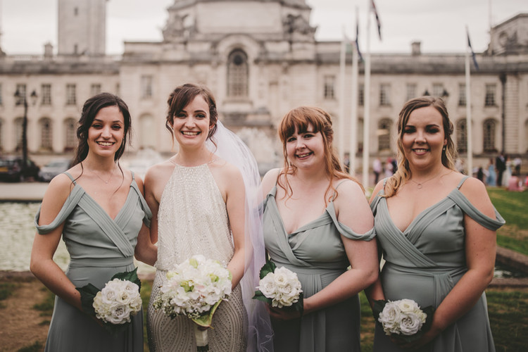 Stacey & her bridal party.