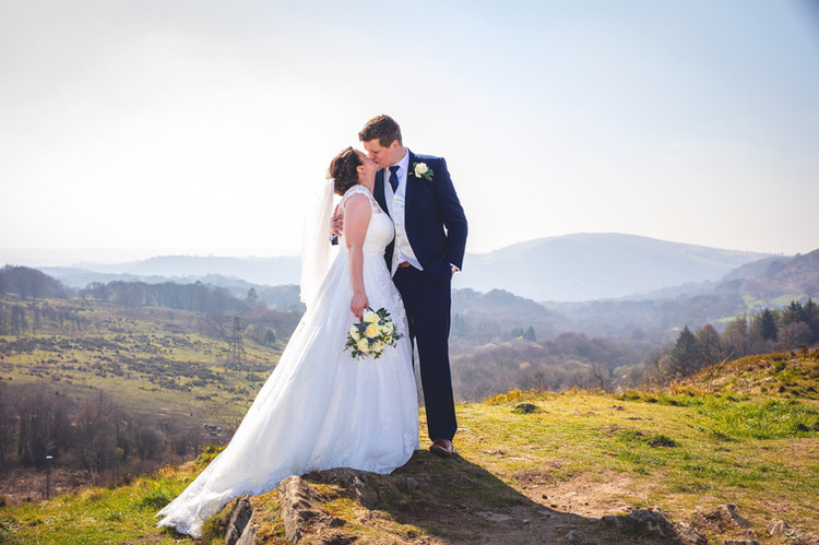 A first kiss in Caerphilly mountains.