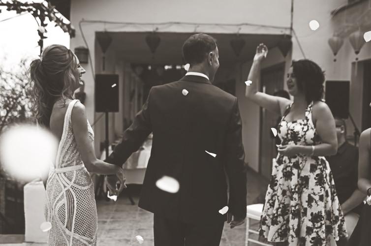 Newlyweds Kev & Gwen.