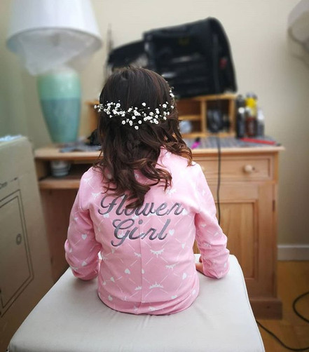 Flower Girl Hair-do.