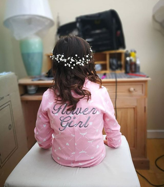 Flower Girl Hair-do.