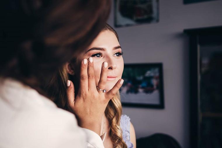 Jessica's wedding makeup.