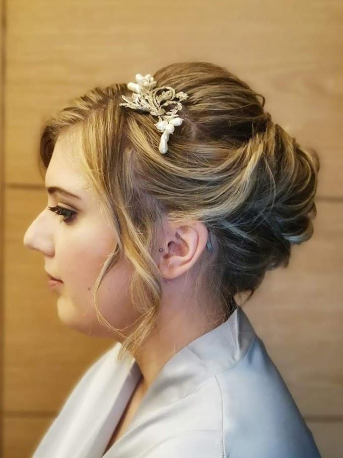 Alana's wedding day hair & makeup.