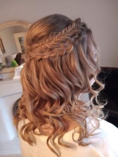 Bridesmaids hair.