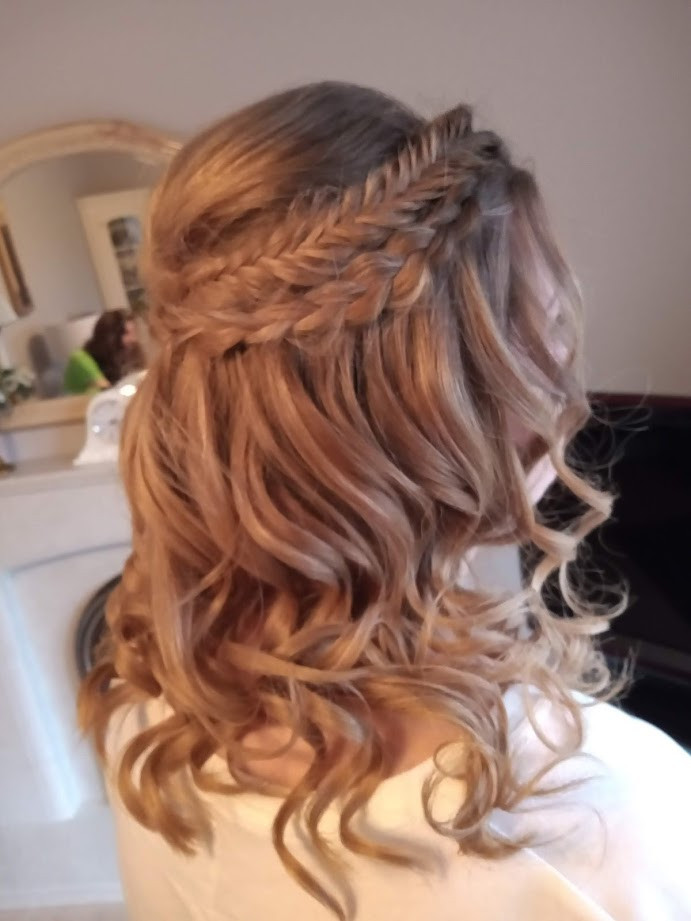 Bridesmaids hair.