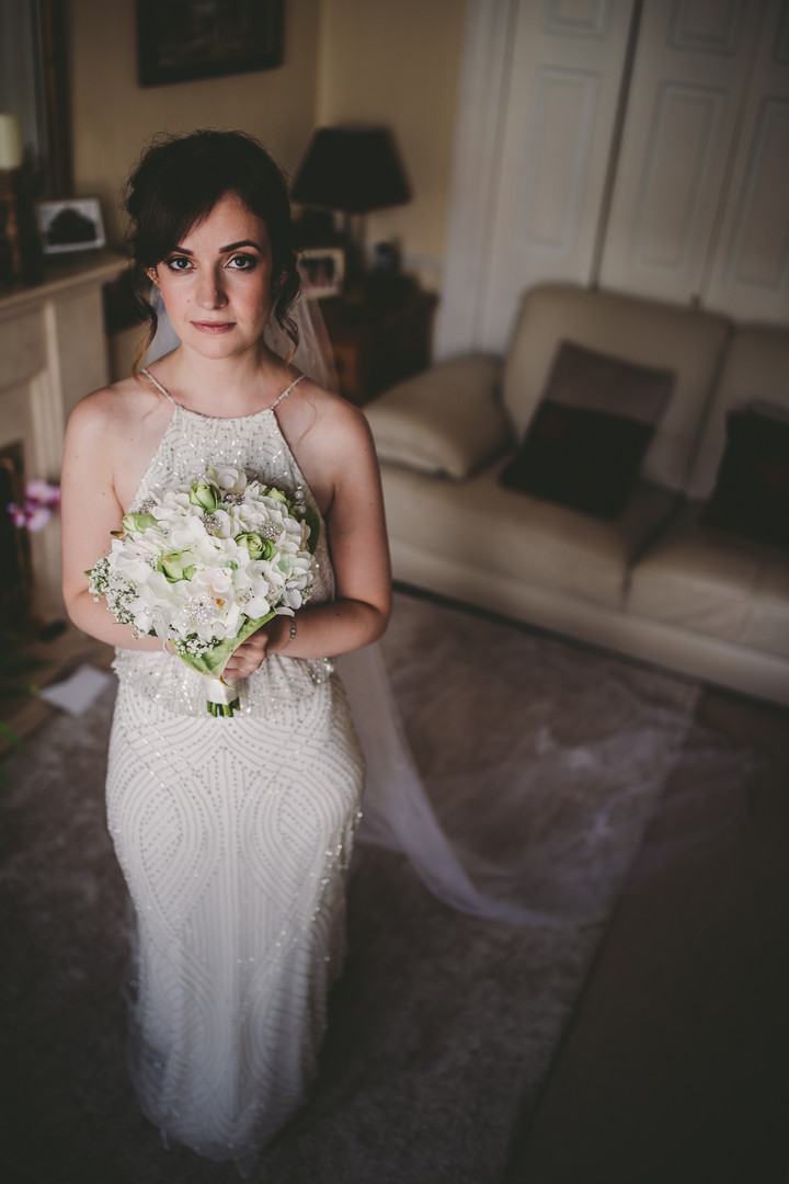 Stacey on her wedding day.